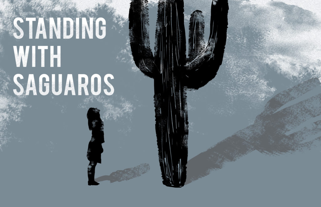 Standing with Saguaros