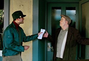 Local Actors Jason Chavez as Mario and Roberto Guajardo as Pablo Neruda.